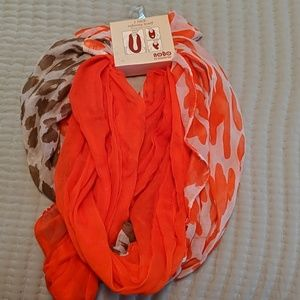 2 pack infinity scarfs